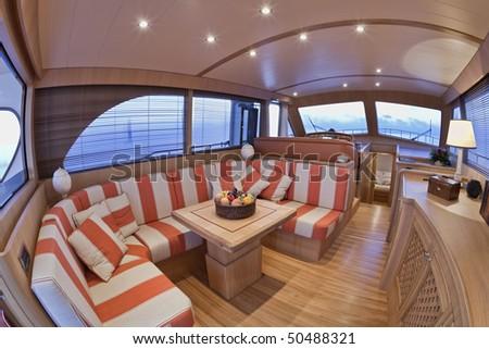 stock photo : Italy, Lazio, Fiumicino, Morgan 70' Lobster luxury yacht,