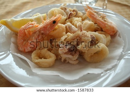 Italy. Liguria. Sea food