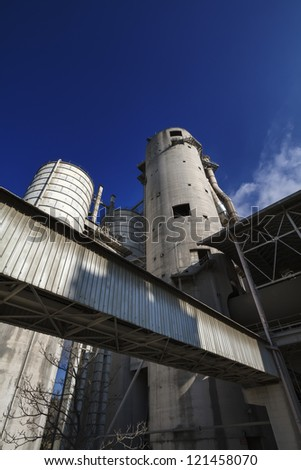 Italy, Maddaloni (Naples), cement factory - stock photo
