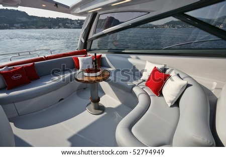 stock photo : Italy, Naples, Aqua 54' luxury yacht (boatyard: Cantieri
