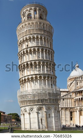 Italy, Pisa. Leaning Tower in the Campo dei Miracoli ensemble