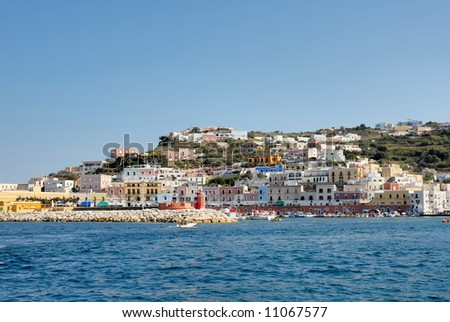 Italy ponza island - stock photo