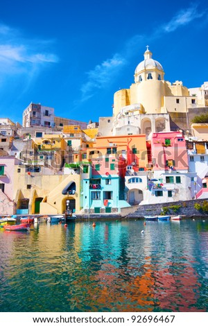 Italy - Procida, beautiful island in the mediterranean sea, naples