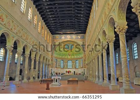 Italy Ravenna Classe Basilica interior
