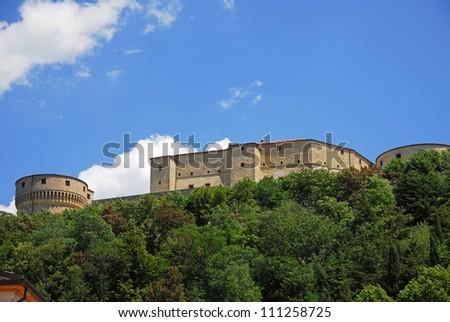Italy. Romagna Apennines, San-Leo castle.