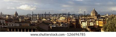 Italy. Rome. Rome skyline. Panorama