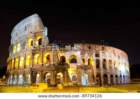 Italy. Rome. The night Colosseum