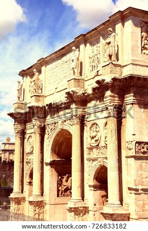 italy   rome. triumphal arch  ...