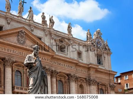 Italy. Rome. Vatican. St Peter's Basilica.