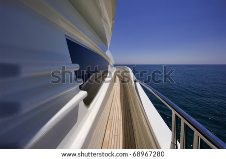 Italy, S.Felice Circeo (Rome), luxury yacht Rizzardi Posillipo Technema 95' - stock photo