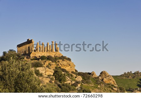 Italy, Sicily, Agrigento, Greek Temples Valley, Juno Temple (480-420 b.C.)