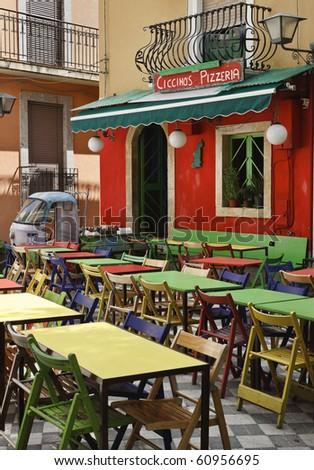 Italy, Sicily, Castelmola (Taormina), Ciccino's bar