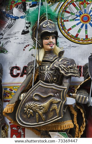 Italy, Sicily, Erice (Trapani), sicilian puppet for sale