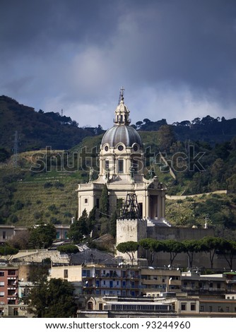 Italy, Sicily, Messina, view of the Cathedral's bell tower