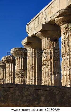 Italy, Sicily, Selinunte, Greek Hera Temple (409 b.C.) - stock photo