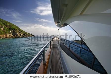 Italy, Tuscany, Elba Island, luxury yacht Azimut 75\'
