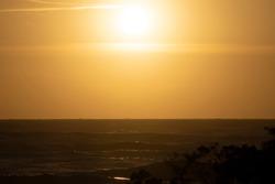 Italy Tuscany Grosseto Maremma natural park, Marina di Alberese, sunset over the stormy sea
