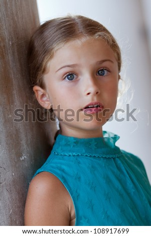 Italy, Venice - Portrait of lovely girl  in old town
