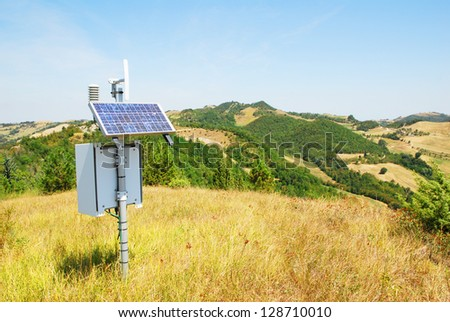 Italy, weather station on Apennines hills near Modigliana, Romagna