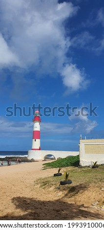 Itapua Lighthouse in a sunny morning - Farol de Itapua Foto stock ©