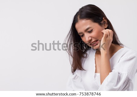 itching woman scratching her skin #753878746