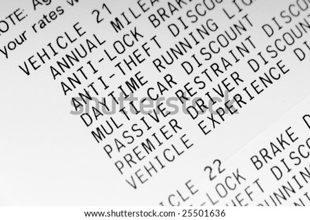 itemized discounts for car insurance
