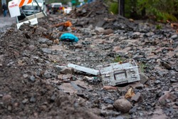 items left behind after a washout and flood