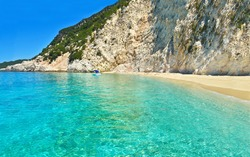 Ithaca beach Ionian islands Greece