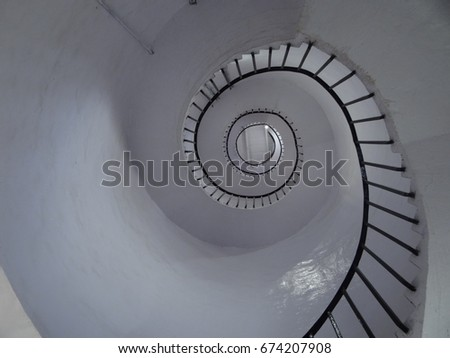Its the inside of a light house  #674207908