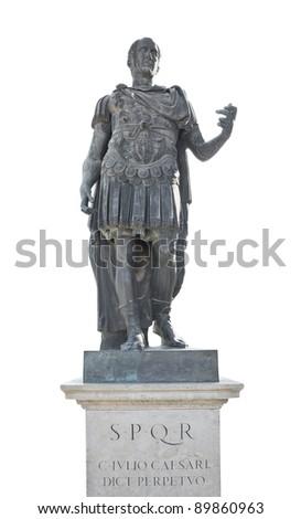iulius caesar emperor statue - stock photo