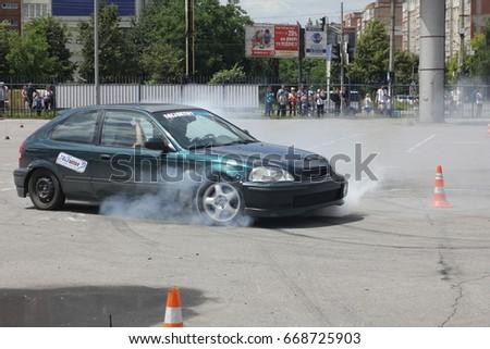 Ivano-Frankivsk, Ukraine - June 24: Car Competition Epicenter Cup, on June 24, 2017 in Ivano-Frankivsk, Ukraine. #668725903