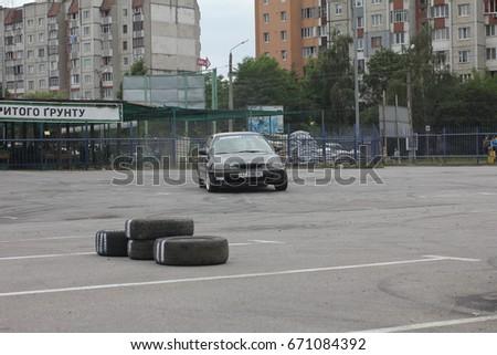 Ivano-Frankivsk, Ukraine - June 24: Car Competition Epicenter Cup, on June 24, 2017 in Ivano-Frankivsk, Ukraine. #671084392