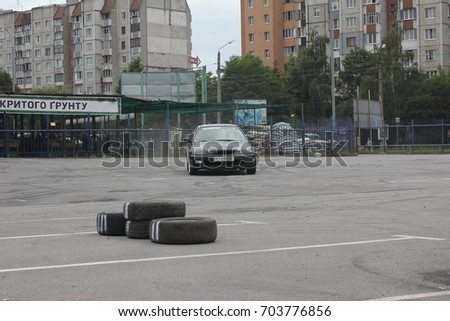 Ivano-Frankivsk, Ukraine - June 24: Car Competition Epicenter Cup, on June 24, 2017 in Ivano-Frankivsk, Ukraine. #703776856