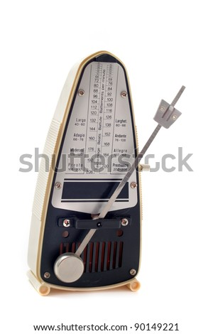 ivory metronome isolated on a white background