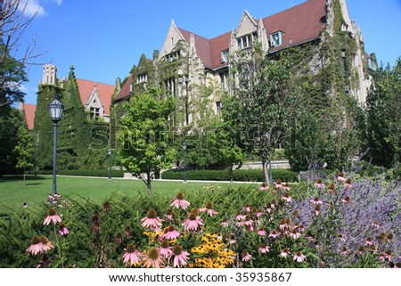 Ivy clad halls of the University of Chicago