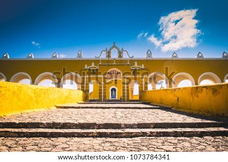 Izamal yellow town, Mexico