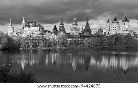 Izmailovo Kremlin (black and white),  Moscow