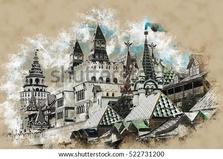 izmaylovo kremlin in moscow ...