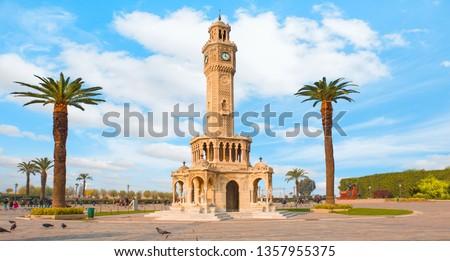 Izmir clock tower. The famous clock tower became the symbol of Izmir
