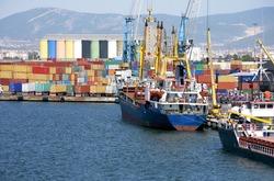 IZMIR, TURKEY -  Izmir port of is the largest national and international ports of Turkey.