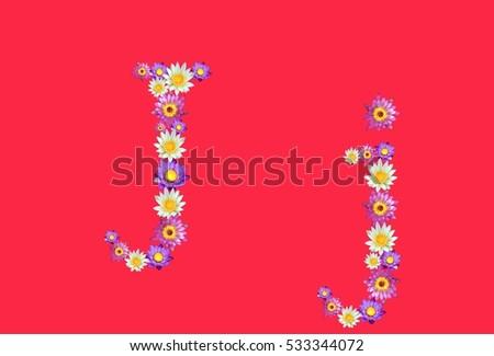 Free photos flower font j avopix j alphabets set lotus flowers font isolated on red background 533344072 mightylinksfo