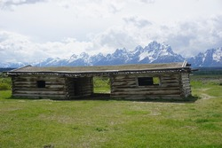 J.P. Cunningham Cabin - historic structure in Grand Teton National Park - Wyoming, USA