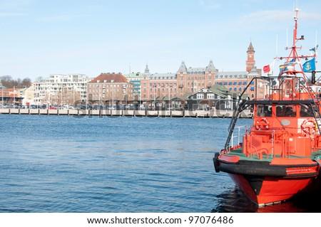 J?zyk orygina?u: angielski port of Helsingborg Zdjęcia stock ©