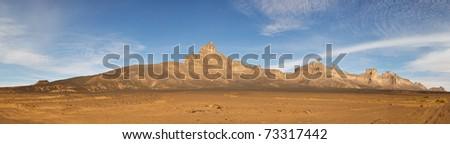 Jabal Idinin, Akakus (Acacus) Mountains, Sahara, Libya - Panoramic View