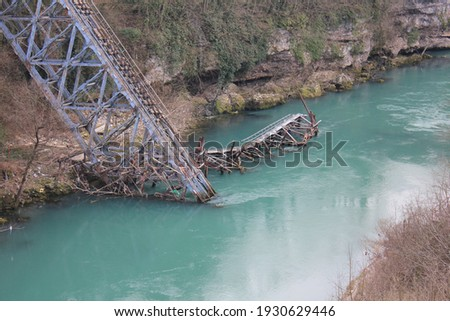 Jablanica and river Neretva, Bosnia and Herzegovina Photo stock ©