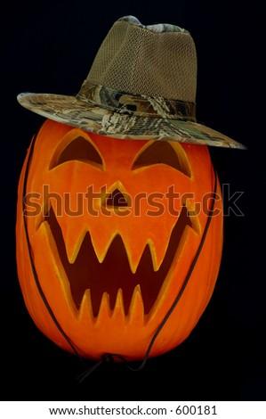 Jack O Lantern Camo Hat