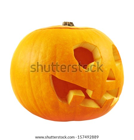Jack-o'-lanterns pumpkin isolated over white background