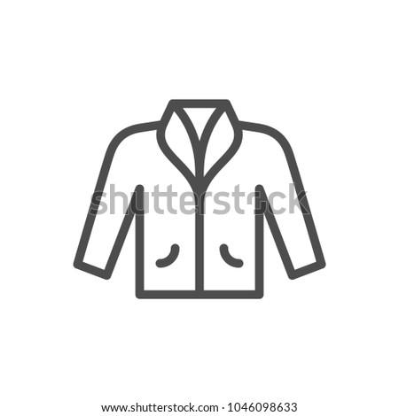 Jacket line icon isolated on white