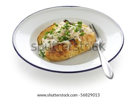 Jacket Potato , Baked Potato with Tuna mayonnaise