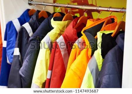 Jackets for workwear for builders and manufacturers